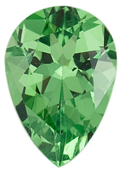Discount Tsavorite Garnet Gem, Pear Shape, Grade AA, 6.00 x 4.00 mm in Size, 0.4 carats