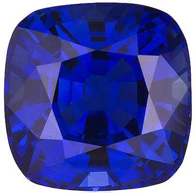 Discounted Loose Blue Sapphire - Very Fine Gem, Antique-Square cut, 1.32 carats