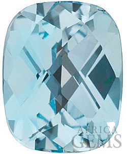 Genuine Double Sided Checkerboard Antique Cushion Sky Blue Topaz Gemstone Sized 25.00 x 10.00 mm, 13.44 Carats