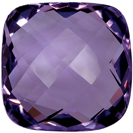 Double Sided Checkerboard Antique Square Genuine Amethyst in Grade A