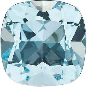 Loose Genuine Double Sided Checkerboard Antique Square Sky Blue Topaz Gemstone Sized 12.00 mm, 7.55 Carats