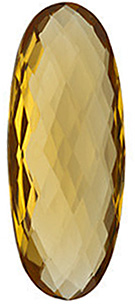 Double Sided Checkerboard Oval Genuine Honey Quartz in Grade AA