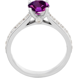 Dramatic Genuine 100% Color Change 0.70 carat Alexandrite 5.20 mm Round Solitaire Engagement Ring - Metal Type Options