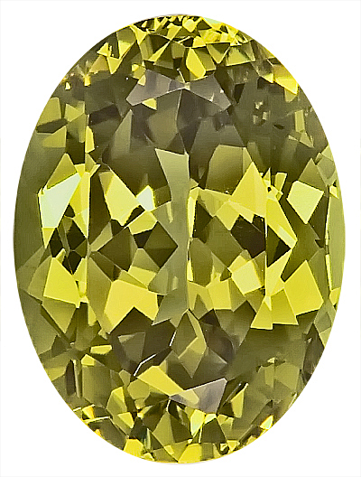 Dramatic Yellow Unheated Grossular Garnet Natural Gemstone, Oval Cut, 15 x 11.2 mm, 10.47 carats