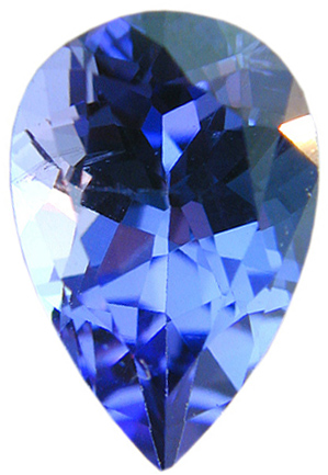 Dynamic Color Beautifully Cut Pear Shape Tanzanite Gemstone 1.40 carats