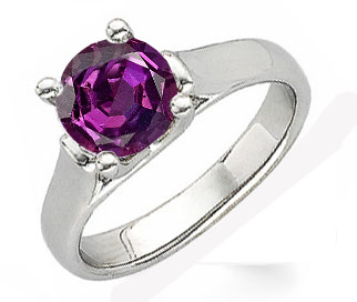 Elegant Alexandrite Solitaire Ring set with Real 1 carat 5.80 mm Vivid Color Change Alexandrite