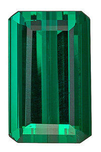 Elegant, Eye-Catching, Rich Blue Green Tourmaline Genunie Gemstone from Brazil, Emerald  Cut, 10.93 carats