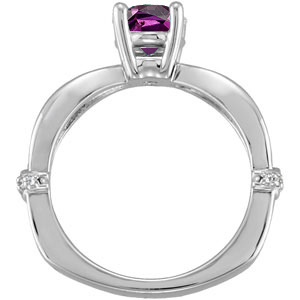 Sculpted Style 1 carat GEM Grade Natural Alexandrite Solitaire Engagement Ring - Dazzling Diamond Accents