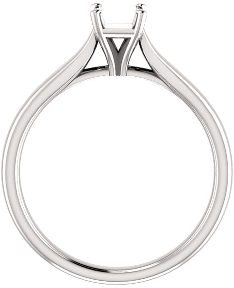 Elegant Solitaire Ring Mounting for Square Gemstone Size 4mm to 10mm