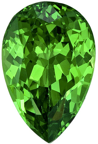 Elegant Top Color & Cut in Tsavorite Pear Cut Stone in Rich Green Color in 8.3 x 5.5 mm, 1.41 carats