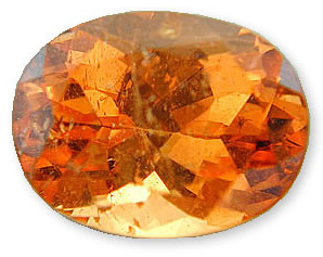 Elegant Vibrant Orange Tangerine Garnet Gemstone for SALE, Oval Cut, 1.66 carats