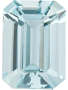 Emerald Cut Genuine Aquamarine in Grade A