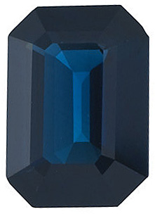 Emerald Cut Genuine Blue Sapphire in Grade A