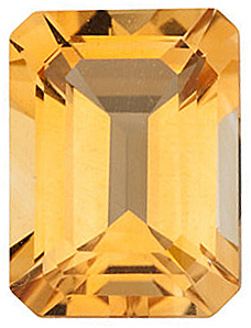 Emerald Cut Genuine Citrine in Grade A