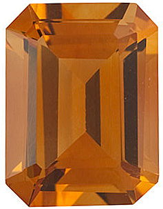 Emerald Cut Genuine Citrine in Grade AAA