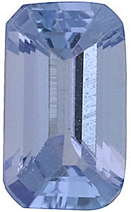 Emerald Cut Genuine Tanzanite in Grade A