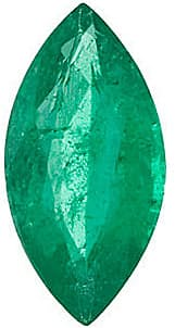 Loose Gem Emerald Gemstone, Marquise Shape, Grade A, 7.00 x 3.50 mm in Size, 0.35 Carats