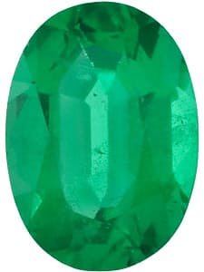 Loose Faceted Emerald Stone, Oval Shape, Grade AA, 7.00 x 5.00 mm in Size, 0.8 Carats