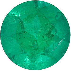 Loose Emerald Stone, Round Shape, Grade A, 2.50 mm in Size, 0.07 Carats