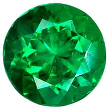 Loose Emerald Stone, Round Shape, Grade AAA, 5.00 mm in Size, 0.47 Carats