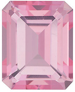 Genuine Emerald Shape Baby Pink Passion Topaz Gemstone Grade AAA, 9.00 x 7.00 mm in Size