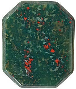 Faceted  Emerald Shape Buff Bloodstone Gemstone Grade AAA, 14.00 x 12.00 mm in Size