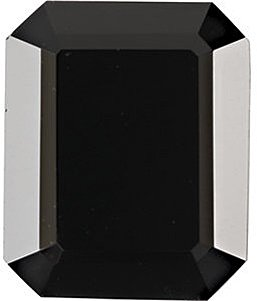 Emerald Shape Faceted Black Onyx Natural Loose Quality Gem Grade AA, 12.00 x 10.00 mm in Size