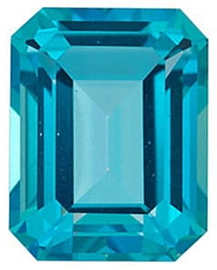 Emerald Shape Paraiba Passion Topaz Gemstone Grade AAA, 8.00 x 6.00 mm in Size