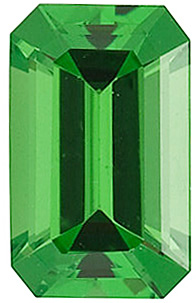 Emerald Shape Tsavorite Green Garnet Gemstone Grade AA, 5.00 x 3.00 mm, 0.33 carats