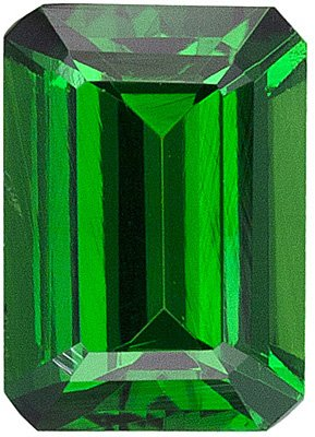 Emerald Shape Tsavorite Green Garnet Natural Fine Loose Gemstone Grade AAA 7.00 x 5.00 mm in Size