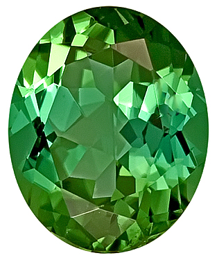 Enchanting Green/Blue Natural Tourmaline Gemstone for SALE,  Oval Cut, 12.1 x 10.2 mm, 5.21 carats