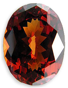 Enchanting Loose Natural Malaia Garnet Gemstone for SALE, Oval Cut, 6.88 carats