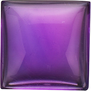 Faceted   Amethyst Gem, Cabochon Square Shape Grade A, 4.00 mm Size, 0.45 Carats