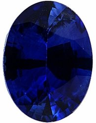 Engagement Blue Sapphire Gem Stone, Oval Shape, Grade A, 6.50 x 4.50 mm in Size, 0.85 Carats