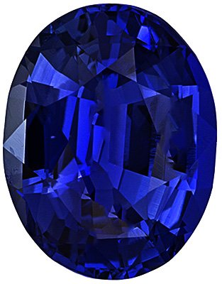 Engagement Blue Sapphire Stone, Oval Shape, Grade AA, 8.00 x 6.00 mm in Size, 1.8 Carats