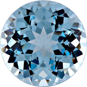Chatham Created Aqua Blue Spinel Gemstone, Round Shape, Grade GEM, 4.50 mm in Size, 0.45 Carats