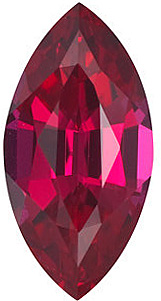 Chatham Created Ruby Stone, Marquise Shape, Grade GEM, 5.00 x 3.00 mm in Size, 0.25 Carats