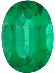 Natural  Emerald Stone, Oval Shape, Grade AA, 7.00 x 5.00 mm in Size, 0.8 Carats