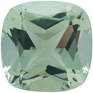 Natural  Green Quartz Gemstone, Antique Square Shape, Grade AA, 7.00 mm in Size, 1.45 Carats