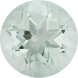 Loose Natural  Green Quartz Gemstone, Round Shape, Grade AA, 6.00 mm in Size, 0.72 Carats