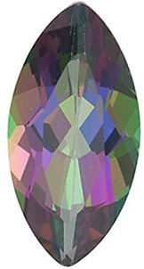 Genuine Loose  Mystic Green Topaz Gem, Marquise Shape, Grade AAA, 10.00 x 5.00 mm in Size, 1.25 Carats