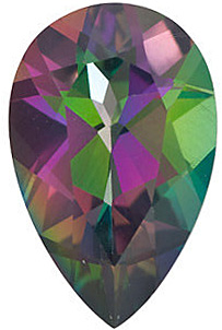 Natural Loose  Mystic Green Topaz Stone, Pear Shape, Grade AAA, 6.00 x 4.00 mm in Size, 0.5 Carats