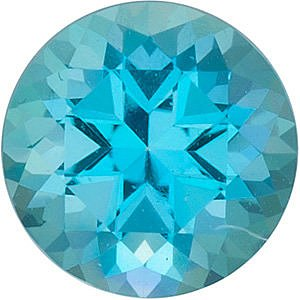 Engagement Paraiba Passion Topaz Stone, Round Shape, Grade AAA, 2.00 mm in Size