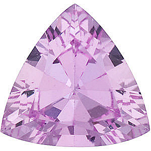 Faceted Loose  Pink Sapphire Gem, Trillion Shape, Grade A, 6.00 mm in Size, 0.9 Carats