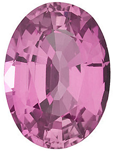 Loose  Pink Sapphire Stone, Oval Shape, Grade A, 6.00 x 4.00 mm in Size, 0.63 Carats
