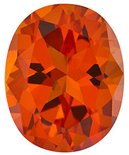Loose Gemstone  Poppy Passion Topaz Stone, Oval Shape, Grade AAA, 6.00 x 4.00 mm in Size