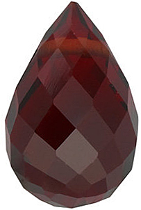 Engagement Red Garnet Gem, Briolette Shape, Grade AAA, 10.00 x 5.00 mm in Size, 2.3 carats