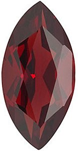 Engagement Red Garnet Gemstone, Marquise Shape, Grade AAA, 5.00 x 3.00 mm in Size, 0.25 carats