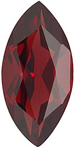 Loose Genuine Gem  Red Garnet Gemstone, Marquise Shape, Grade AAA, 5.00 x 3.00 mm in Size, 0.25 carats