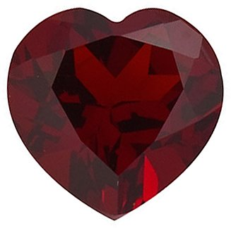Engagement Red Garnet Stone, Heart Shape, Grade AAA, 4.00 mm in Size, 0.32 carats